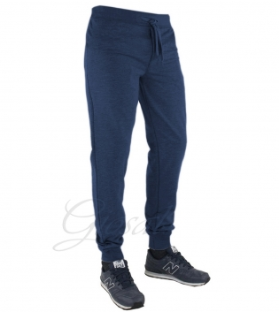 Pantalone Uomo Tuta Tinta Unita Blu Elastico Sport Relax Comfort Casual GIOSAL