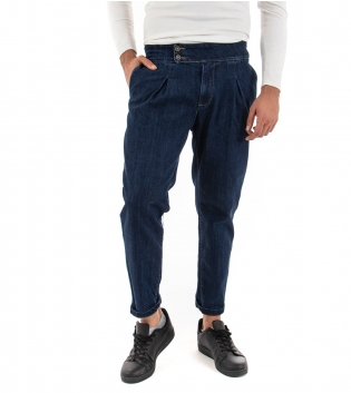 Pantalone Uomo Lungo jeans Denim Scuro Black Svnday Elegante GIOSAL