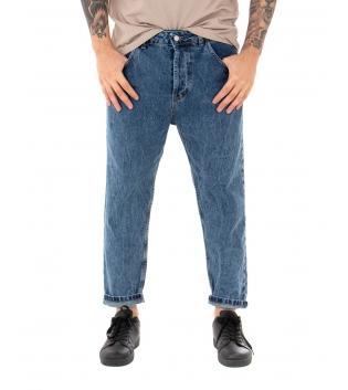 Pantalone Uomo Jeans Paul Barrell Casual Denim Venature Cinque Tasche GIOSAL