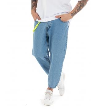 Pantalone Uomo Jeans Denim Slouchy Fit Casual Cavallo Basso GIOSAL