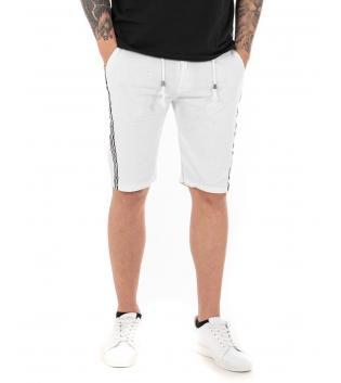 Pantalone Uomo Tinta Unita Vari Colori Bermuda Casual GIOSAL