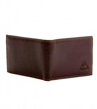 Portafoglio Uomo Porta Carte Marrone con Portamonete Borsellino Portafogli Wallet GIOSAL
