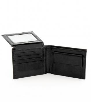 Portafoglio Uomo Porta Carte Nero con Portamonete Borsellino Portafogli GIOSAL