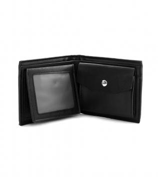 Portafogli Uomo Porta Carte Nero Riga Portamonete Borsellino Portafoglio GIOSAL