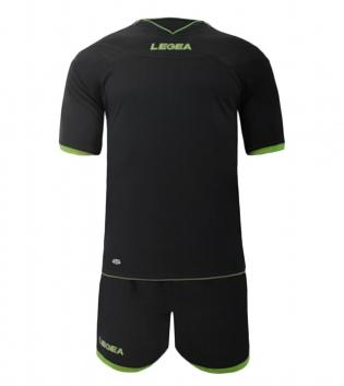 Kit Uomo LEGEA Calcio Completo Sport Uomo Bambino Calcetto Per Squadre GIOSAL-Piombo-VerdeFluo-3XS