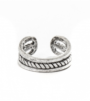 Anello Uomo Righe Ring Traforato Rotondo  Accessori Acciaio GIOSAL