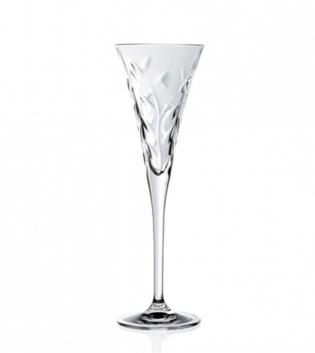 Set Bicchieri Calici Laurus 6 Pezzi Acqua Vino Flute 21cl 17cl 12cl Vetro Cristalleria RCR GIOSAL
