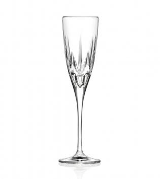 Set Bicchieri Calici Chic 6 Pezzi 15cl Flute Vetro Cristallo RCR GIOSAL