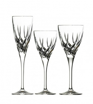 Set Bicchieri Calici Trix 18 Pezzi Vino Rosso Bianco Flute Vetro Cristalleria RCR GIOSAL