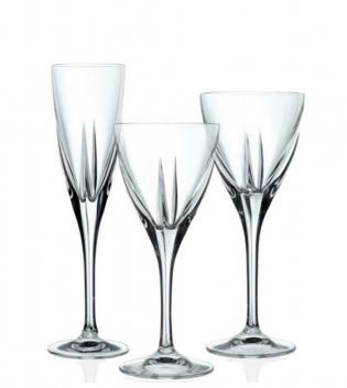 Set Bicchieri Calici Fusion 18 Pezzi Acqua Vino Flute Vetro Cristalleria Italiana RCR GIOSAL