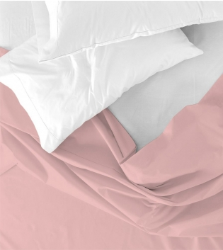 Lenzuolo Sopra Maestri Cotonieri Matrimoniale 250x290cm Cotone Tinta Unita Vari Colori GIOSAL-Rosa Antico