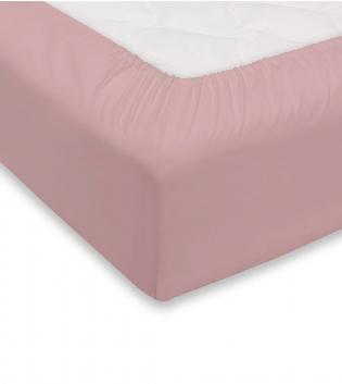 Lenzuolo Sotto Maestri Cotonieri Con Angoli Cotone Matrimoniale 180x200cm Vari Colori GIOSAL-Rosa Antico