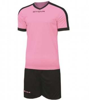 Kit Revolution Calcio Sport GIVOVA Abbigliamento Sportivo Uomo Calcistico GIOSAL-Rosa-Nero-4XS