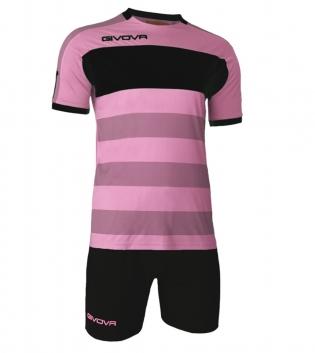 Kit Derby Calcio Sport GIVOVA Abbigliamento Sportivo Calcistico GIOSAL-Rosa-Nero-M