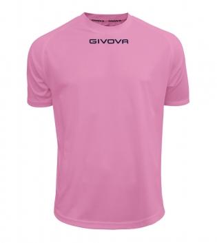 Maglia Calcio Sport GIVOVA One T-Shirt Uomo Donna Bambino Maglietta Abbigliamento Sportivo GIOSAL-Rosa-4XS