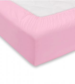 Lenzuolo Sotto Maestri Cotonieri Con Angoli Cotone Matrimoniale Maxi 180x220cm Vari Colori GIOSAL-Rosa