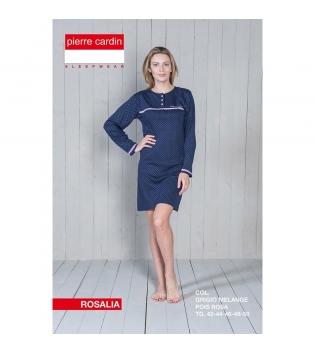 Pigiama Donna Maniche Lunghe Vestito Fantasia Pois Blu Casual GIOSAL