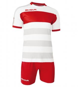 Kit Derby Calcio Sport GIVOVA Abbigliamento Sportivo Calcistico GIOSAL-Rosso/Bianco-M