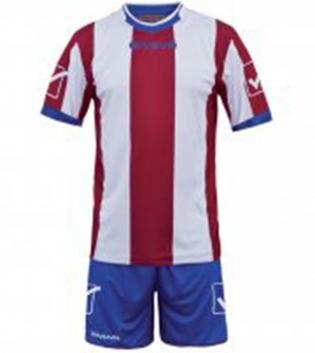 Kit Uomo Calcio Completino Sport Catalano Sportivo GIVOVA Uomo GIOSAL-Rosso/Bianco-M