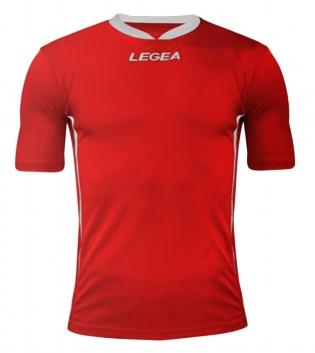 Maglia Uomo Calcio LEGEA Dusseldorf Manica Corta BOX 10 PEZZI Uomo Bambino GIOSAL-Rosso-Bianco-S
