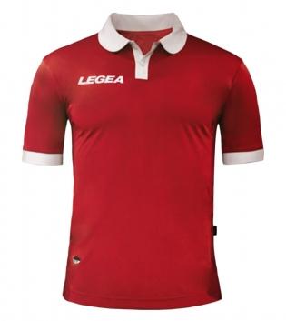 Maglia Uomo LEGEA Calcio Abbigliamento Sportivo Vintage Gold Uomo Bambino GIOSAL-Rosso-Bianco-3XS