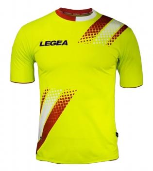 Maglia Uomo Calcio Sport LEGEA Salamanca Abbigliamento Sportivo Uomo Bambino GIOSAL-Rosso-Bianco-S