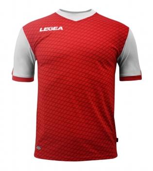 Maglia Calcio Sport LEGEA Narbona Abbigliamento Calcistico Sportivo GIOSAL-Rosso-Bianco-S