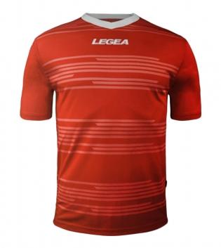 Maglia Uomo Calcio Sport Ankara Abbigliamento Sportivo Uomo Bambino Manica Corta GIOSAL-Rosso-Bianco-2XS