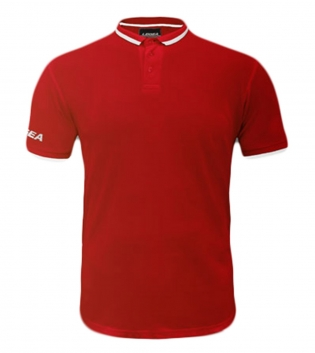 Maglietta Polo Dacca LEGEA Abbigliamento Sportivo Uomo Bambino GIOSAL-Rosso-Bianco-3XS