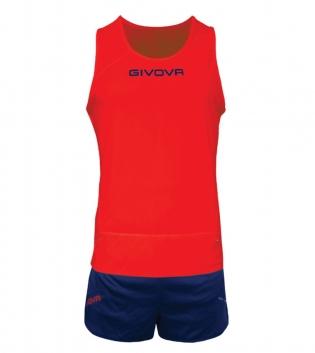 Kit New York GIVOVA Unisex Uomo Donna Athletics Running Sport Sportivo GIOSAL-Rosso/Blu-S