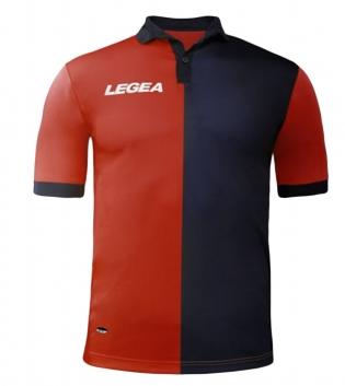 Maglia Uomo Calcio Sport LEGEA Sardegna Gold Uomo Bambino Sportivo GIOSAL-Rosso-Blu-M