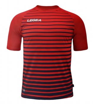 Maglia Calcio Sport LEGEA Strasburgo Abbigliamento Calcistico Sportivo GIOSAL-Rosso-Blu-S