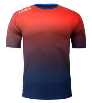 Maglia Calcio Sport LEGEA Nizza Abbigliamento Sportivo Uomo GIOSAL-Rosso-Blu-S