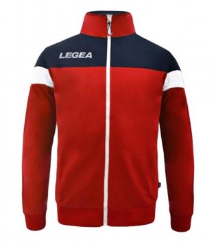 Felpa Uomo Bolivia Full Zip LEGEA Abbigliamento Sportivo Uomo Bambino GIOSAL-Rosso-Blu-3XS