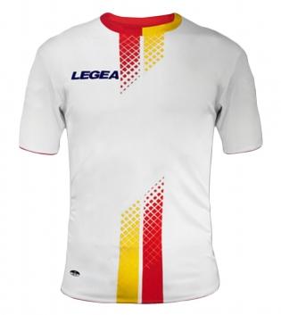 Maglia Uomo Calcio Sport LEGEA Leira Abbigliamento Sportivo Uomo Bambino GIOSAL-Rosso-Giallo-S
