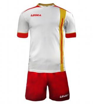 Kit Calcio Sport LEGEA Dublino Completo Calcetto Squadra GIOSAL-Rosso-Giallo-M