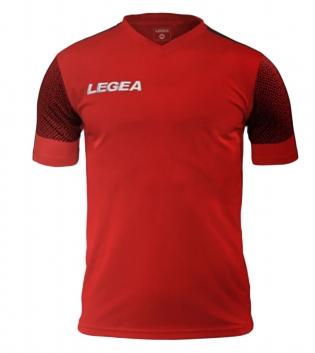 Maglia Uomo Calcio Sport Praga Legea Uomo Bambino Manica Corta Fluo GIOSAL-Rosso-GrigioScuro-3XS