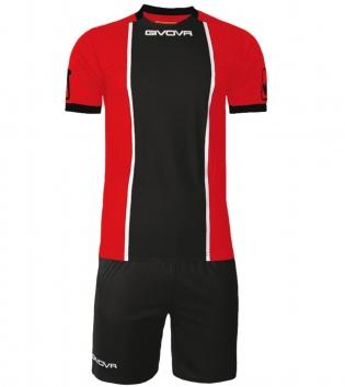 Kit Paris Calcio Sport GIVOVA Abbigliamento Sportivo Uomo Calcistico GIOSAL-Rosso/Nero-M