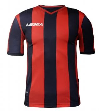 Maglia Calcio Sport LEGEA Belgrado Gold Uomo Bambino Abbigliamento Sportivo GIOSAL-Rosso-Nero-3XS