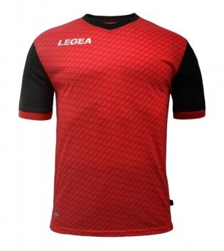 Maglia Calcio Sport LEGEA Narbona Abbigliamento Calcistico Sportivo GIOSAL-Rosso-Nero-S