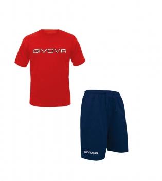 Completo Outfit Tuta GIVOVA Rosso Blu Bermuda Friend T-Shirt Spot Uomo Donna Bambino GIOSAL