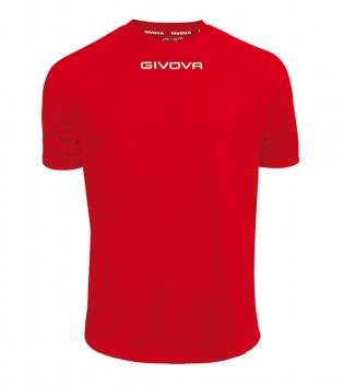 Maglia Calcio Sport GIVOVA One T-Shirt Uomo Donna Bambino Maglietta Abbigliamento Sportivo GIOSAL-Rosso-4XS