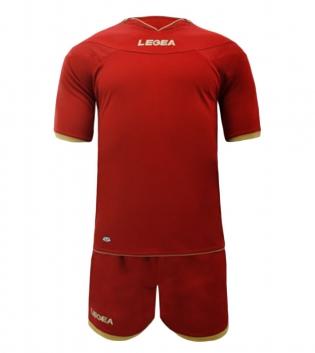 Kit Uomo LEGEA Calcio Completo Sport Uomo Bambino Calcetto Per Squadre GIOSAL-Rosso-3XS