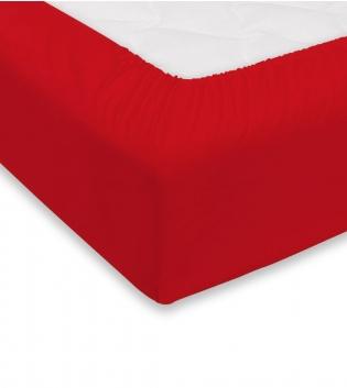 Lenzuolo Sotto Maestri Cotonieri Con Angoli Cotone Matrimoniale 180x200cm Vari Colori GIOSAL-Rosso