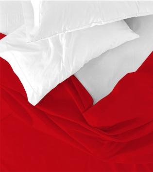 Lenzuolo Sopra Maestri Cotonieri Singolo 160x290cm Cotone Tinta Unita Vari Colori GIOSAL-Rosso