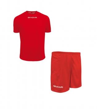 Outfit Givova Completo Pantaloncini T-Shirt Givova One Rosa Nero Uomo Donna Bambino GIOSAL