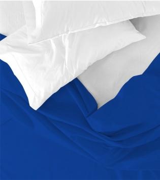 Lenzuolo Sopra Maestri Cotonieri Singolo 160x290cm Cotone Tinta Unita Vari Colori GIOSAL-Blu Royal