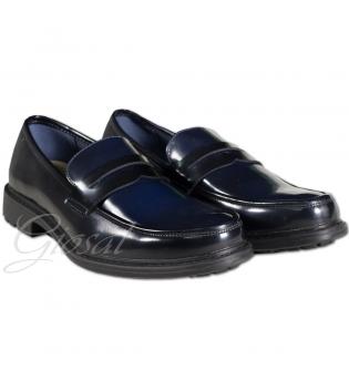 Scarpe Uomo Calzature Eleganti Lucide Tinta Unita Vari Colori Nera Blu GIOSAL