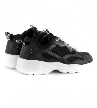 Scarpe Uomo Shoes Sneakers Sportive Casual Nere GIOSAL
