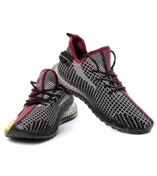 Scarpe Uomo Sneakers Sportive Casual Tessuto Trafotato Colorate GIOSAL